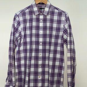 Purple Striped Modern Fit Dress Shirt